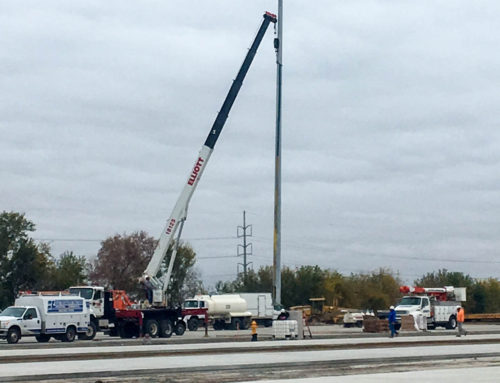 High Mast Light Pole Installation